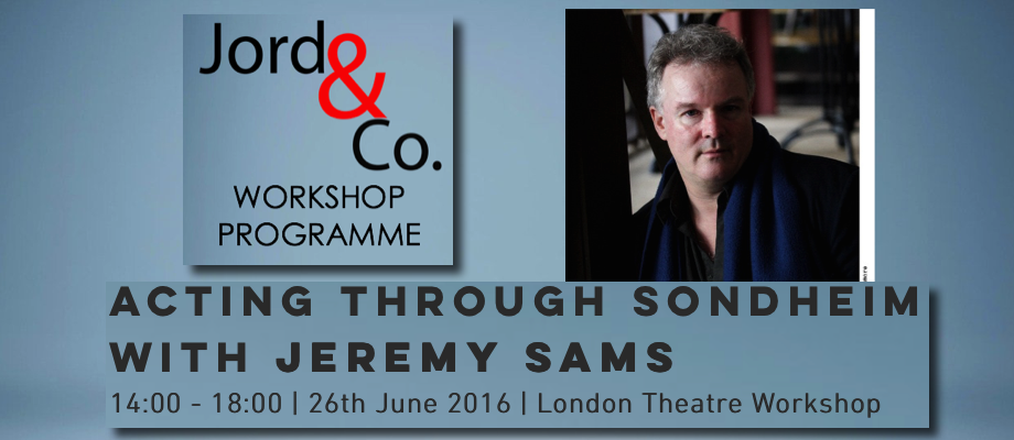 Acting through Sondheim with Jeremy Sams